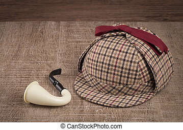 Sherlock Hat and Tobacco pipe
