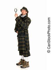 Sherlock Holmes, crime scene - Young police officer dressed...