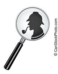 Sherlock Holmes In Magnifying Glass
