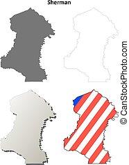Sherman County, Oregon outline map set - Sherman County,...