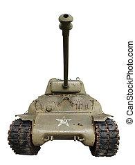 Sherman Tank 2 - Vintage sherman tank isolated on white.