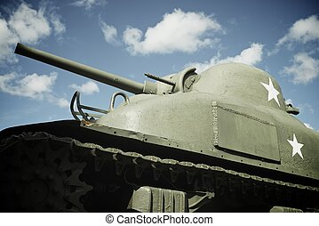 Sherman Tank in the memorial museum of the Battle of ...
