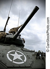 Sherman Tank - Old WWII Sherman tank with US military star ...