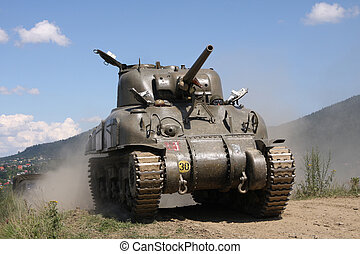 Sherman Tank %u2013 WW II - American tank Sherman M41A ...