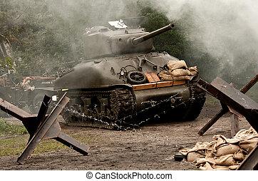 Sherman Tank WW II - American tank Sherman M41A GRIZZLI from...