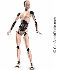 SheRobot - 3D Render of an Female Robot
