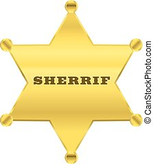 sherrif golden star vector design
