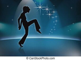 Shes only happy when she\'s dancin - dancing woman