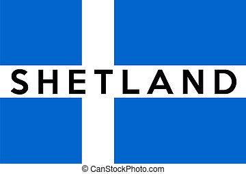 shetland flag - very big size shetland people ethnic flag