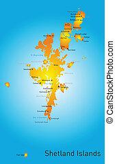 Shetland Islands - Vector color map of Shetland Islands