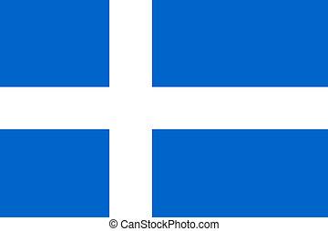 Shetland Islands Flag - Offfical flag of Shetland Islands in...