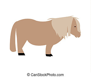 Shetland pony horse silhouette - A simple silhouette of a...