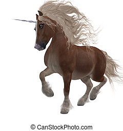 Shetland Unicorn - A fantasy animal that is a cross of the...