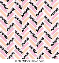 shevron rose color vector seamless pattern