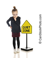 Shhhhh! And I Mean You! - An adorable little girl school...