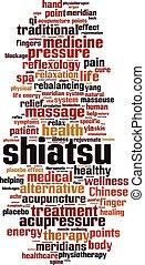 shiatsu, szó, felhő