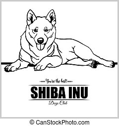 Shiba Inu Dog - vector illustration for t-shirt, logo and template badges