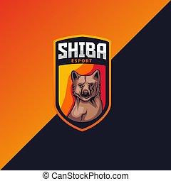 shiba mascot logo