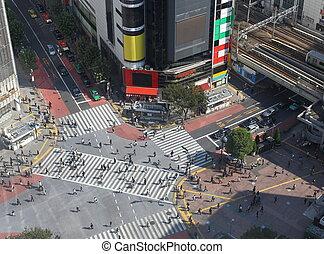 shibuya, croisement, tokyo