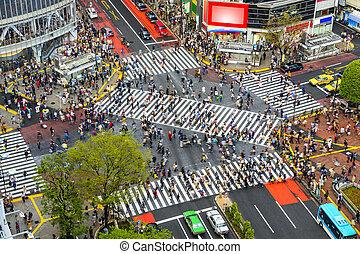 Shibuya, Tokyo, Japan - Tokyo, Japan view of Shibuya ...
