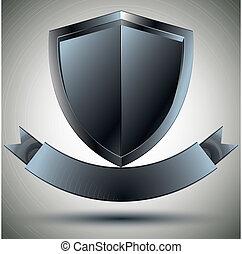 Shield and blank ribbon.