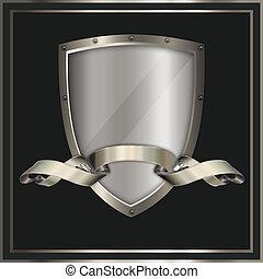 Shield and ribbon. - Heraldic shield and ribbon for the...