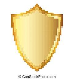 shield., arte, illustration., vettore, disegno, pixel
