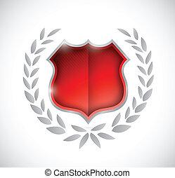 shield award illustration design