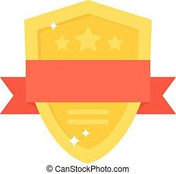 Shield award vector illustration.