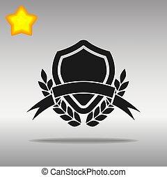 shield banner black Icon button logo symbol