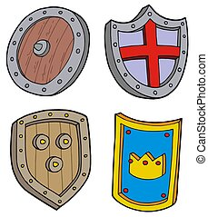 Shield collection - isolated illustation.