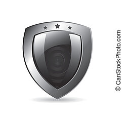 shield design over white background vector illustration