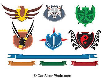 Shield designs set