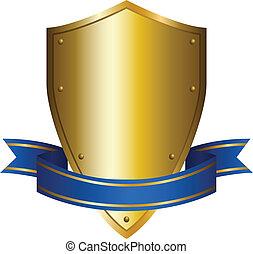 Shield Emblem - Illustration of a shield emblem