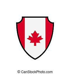 Shield flag of Canada vector logo and icon