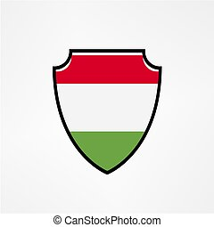 Shield flag of Hungary vector logo and icon