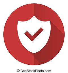 Shield flat design vector icon