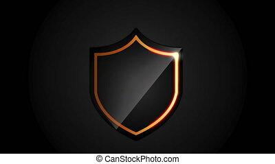 Shield icon design, video animation