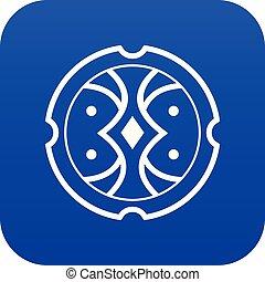 Shield icon digital blue