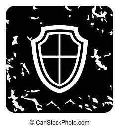 Shield icon, grunge style