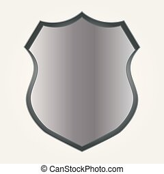 Shield icon in flat style. Vector illustration.
