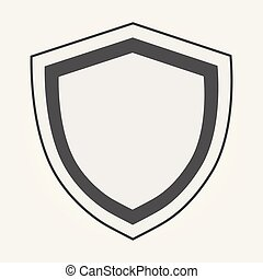 Shield Icon in trendy flat style isolated on grey background. Shield symbol for your web site design, logo, app, UI. Vector illustration, EPS10.