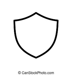 Shield Icon in trendy flat style isolated on white background. Shield symbol for your web site design, logo, app, UI. Vector illustration
