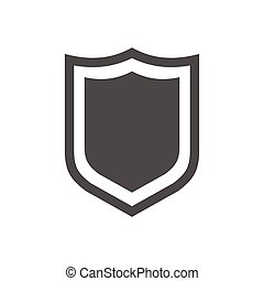 Shield Icon in trendy flat style isolated on white background. Vector illustration, EPS10.