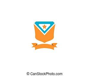 Shield icon logo design vector illustration