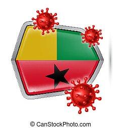 Shield Icon of Guinea-Bissau - Flag of Guinea-Bissau on ...