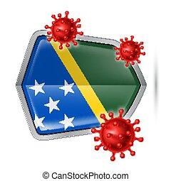 Shield Icon of Solomon Islands - Flag of Solomon Islands on ...