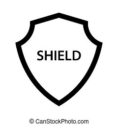Shield icon on a white background.