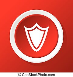 Shield icon on red