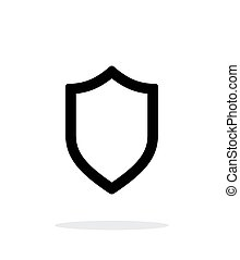 Shield icon on white background.